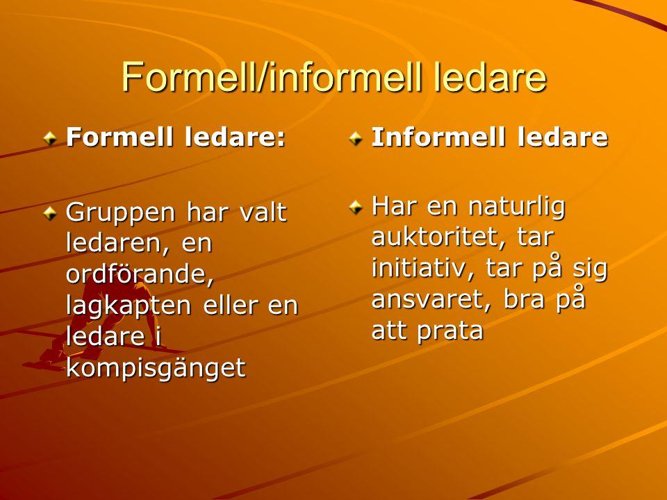 Formell/informell ledare
