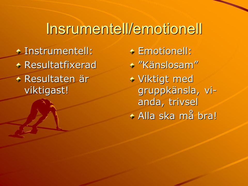 Insrumentell/emotionell