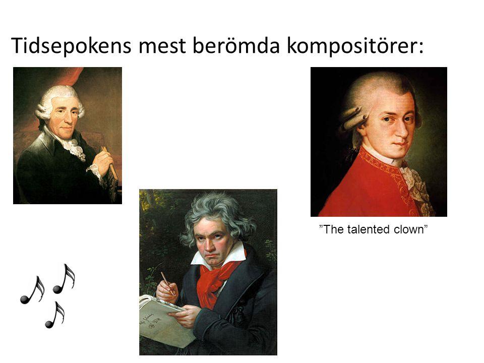 Tidsepokens mest berömda kompositörer: