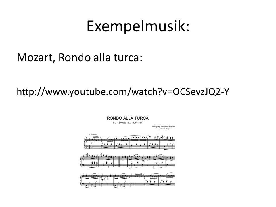 Exempelmusik: Mozart, Rondo alla turca: