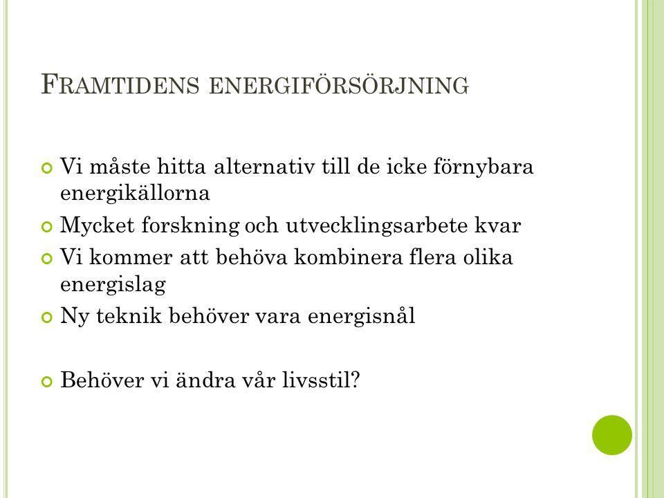 Framtidens energiförsörjning