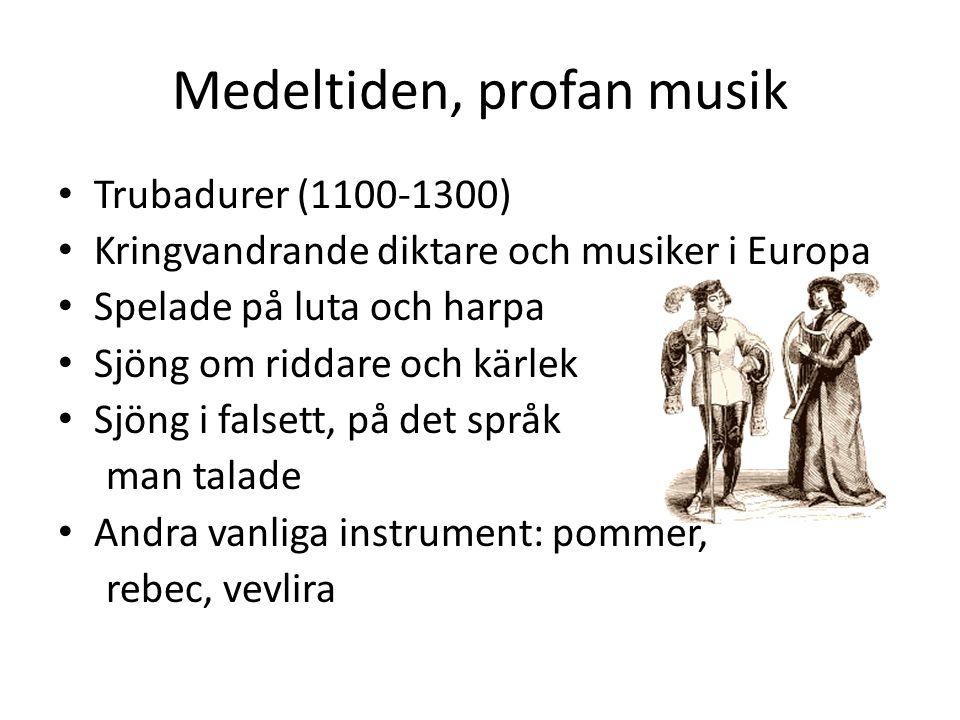 Medeltiden, profan musik