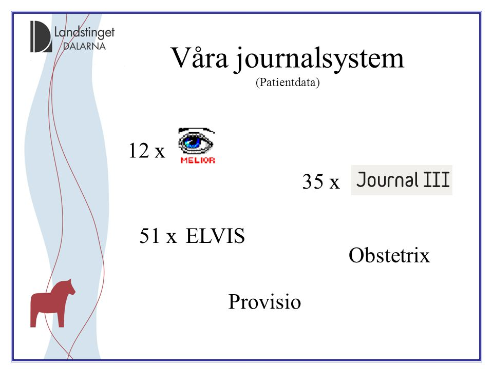 Våra journalsystem (Patientdata)