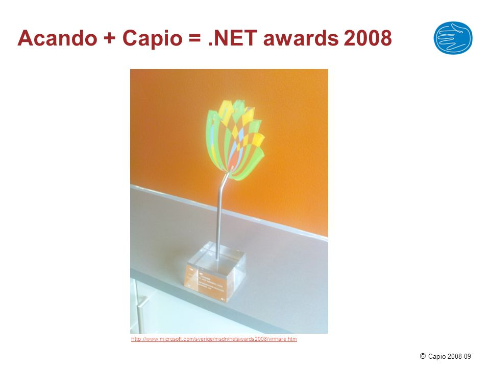Acando + Capio = .NET awards 2008
