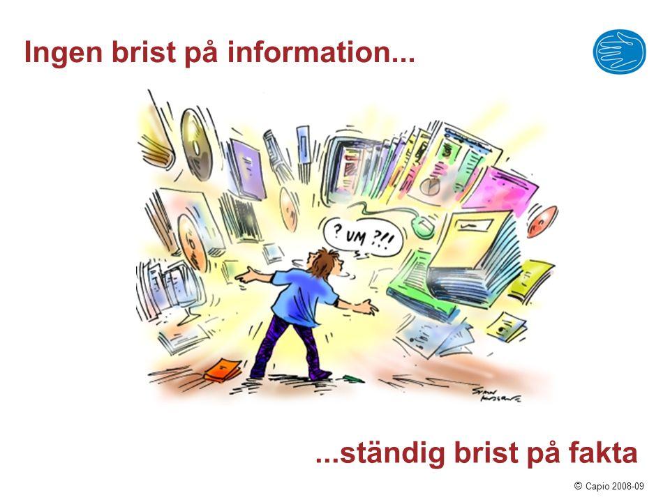 Ingen brist på information...