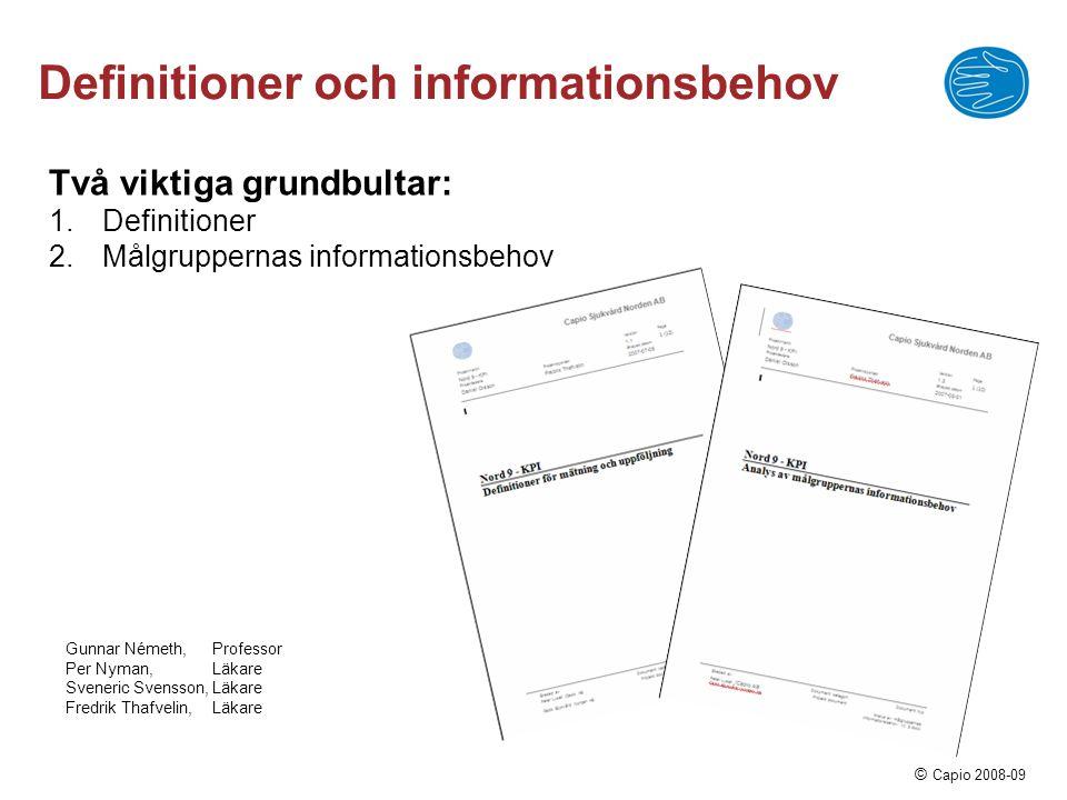 Definitioner och informationsbehov