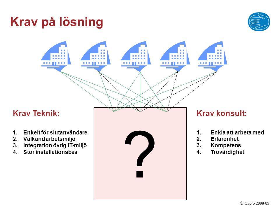 Krav på lösning Krav Teknik: Krav konsult: Enkelt för slutanvändare