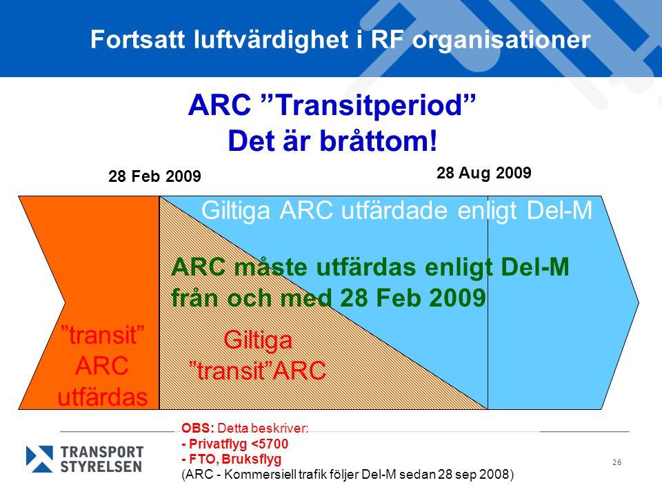 ARC Transitperiod Det är bråttom!
