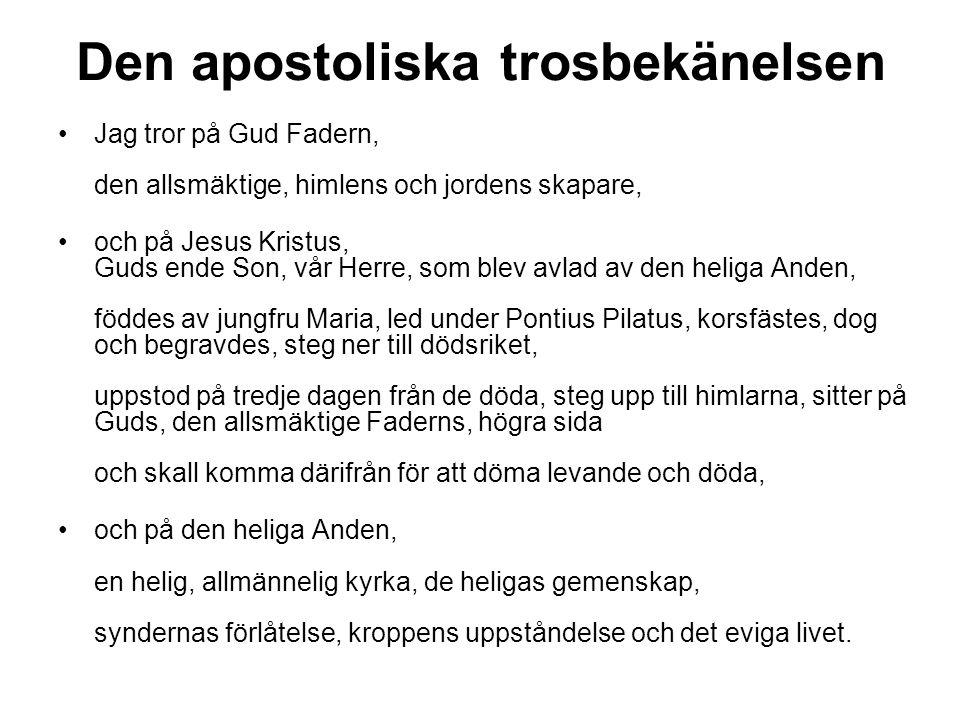 Den apostoliska trosbekänelsen