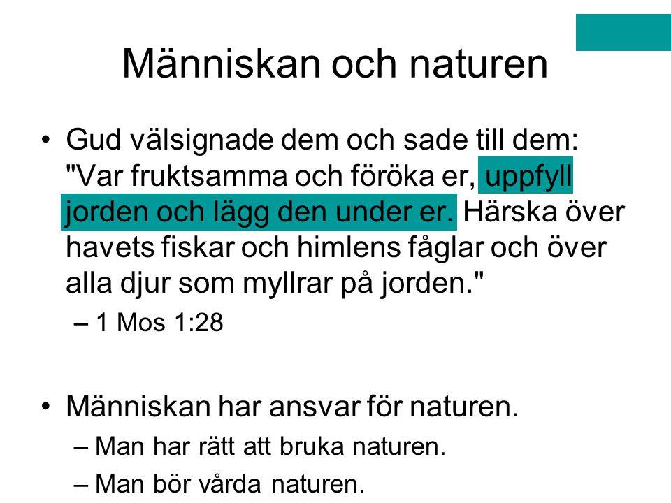 Människan och naturen