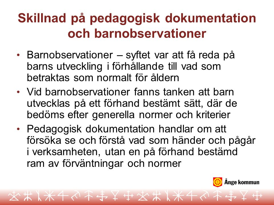 Skillnad på pedagogisk dokumentation och barnobservationer