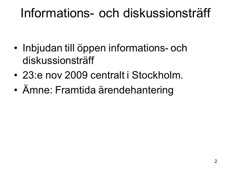 Informations- och diskussionsträff