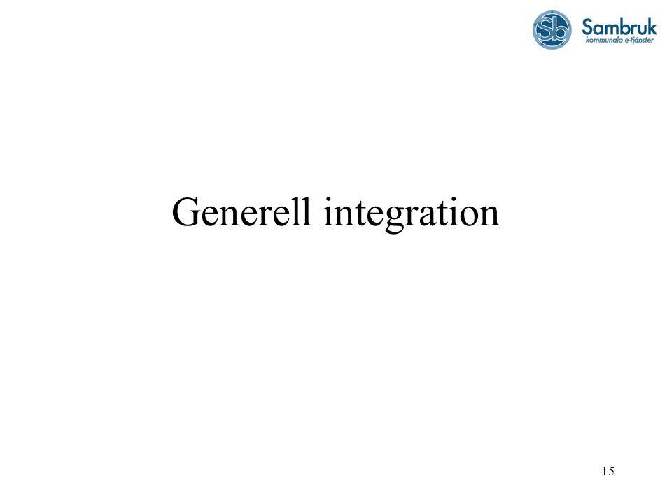 Generell integration
