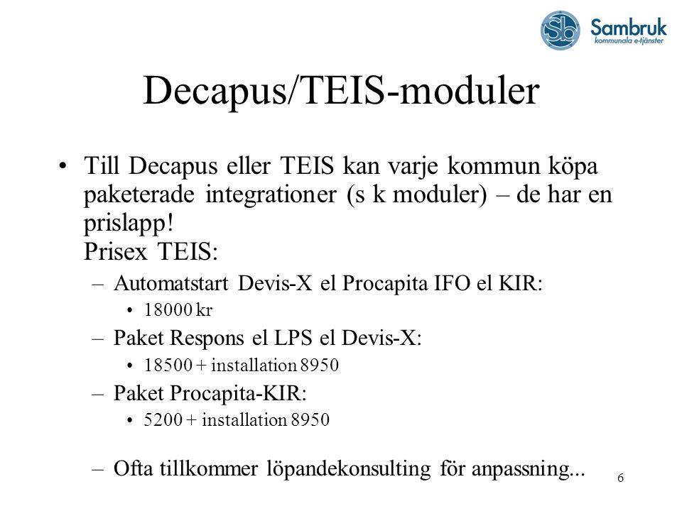 Decapus/TEIS-moduler