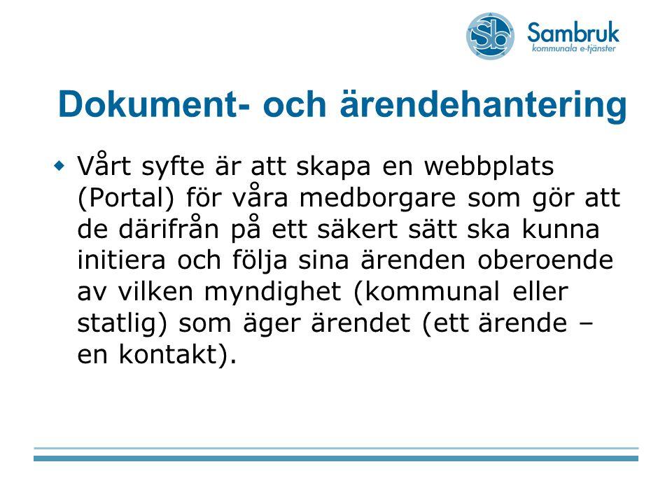 Dokument- och ärendehantering
