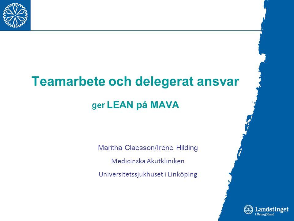 Teamarbete och delegerat ansvar ger LEAN på MAVA