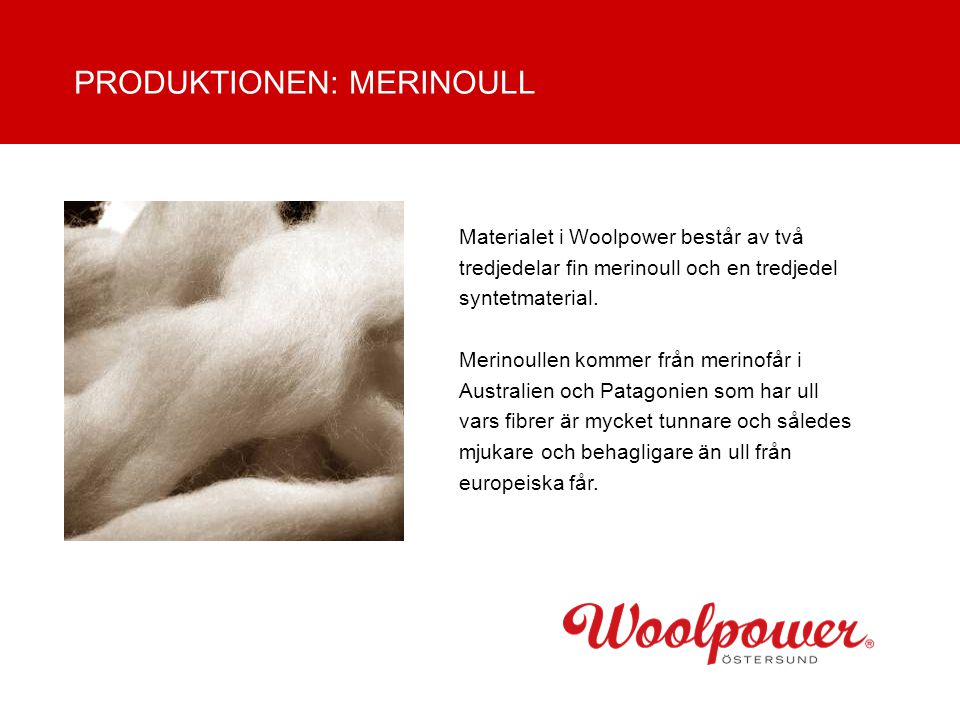 PRODUKTIONEN: MERINOULL