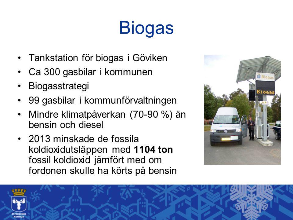 Biogas Tankstation för biogas i Göviken Ca 300 gasbilar i kommunen