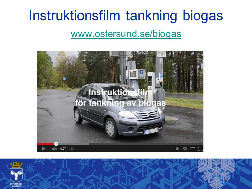 Instruktionsfilm tankning biogas www.ostersund.se/biogas