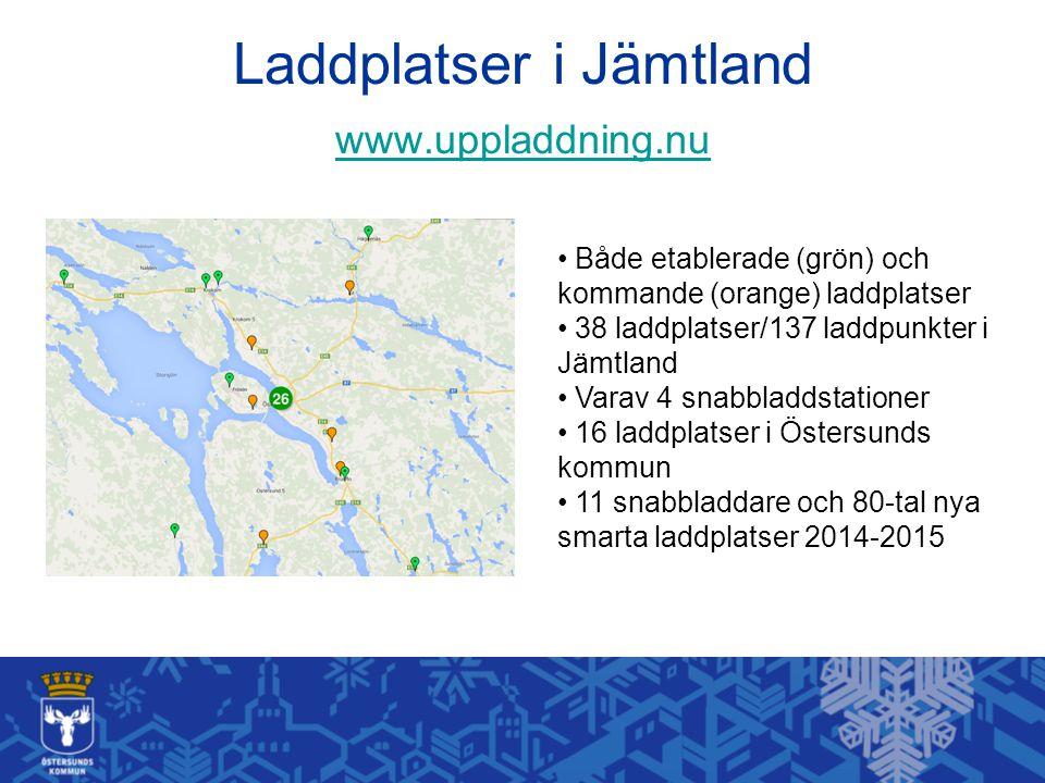 Laddplatser i Jämtland www.uppladdning.nu