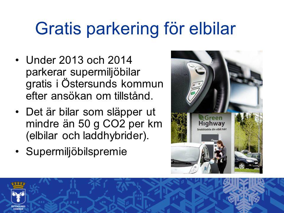 Gratis parkering för elbilar