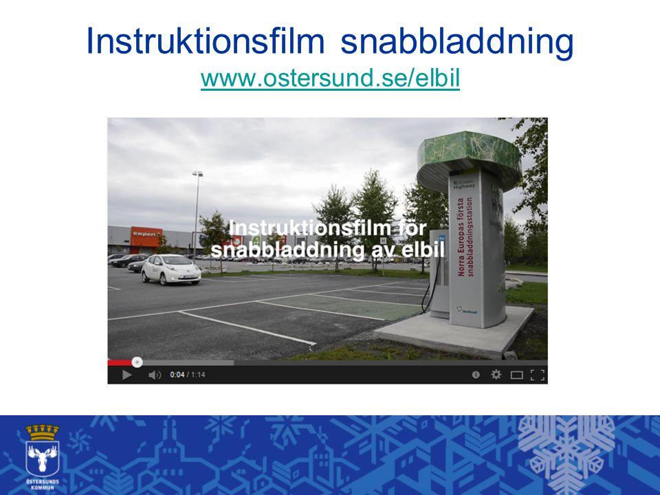 Instruktionsfilm snabbladdning www.ostersund.se/elbil