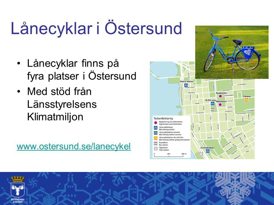 Lånecyklar i Östersund