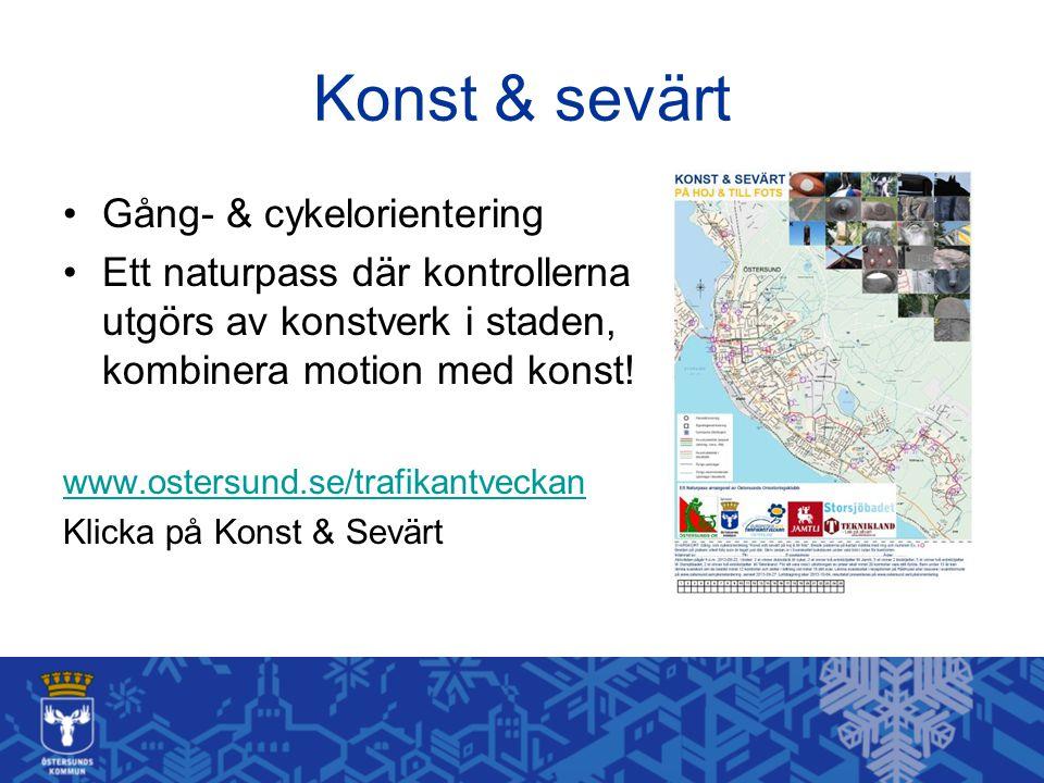Konst & sevärt Gång- & cykelorientering