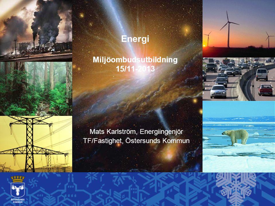 Energi Miljöombudsutbildning 15/11-2013