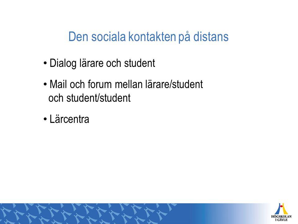 Den sociala kontakten på distans