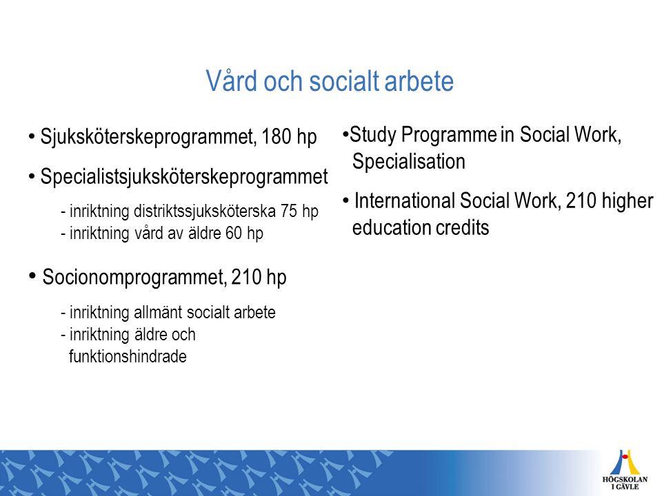 Vård och socialt arbete