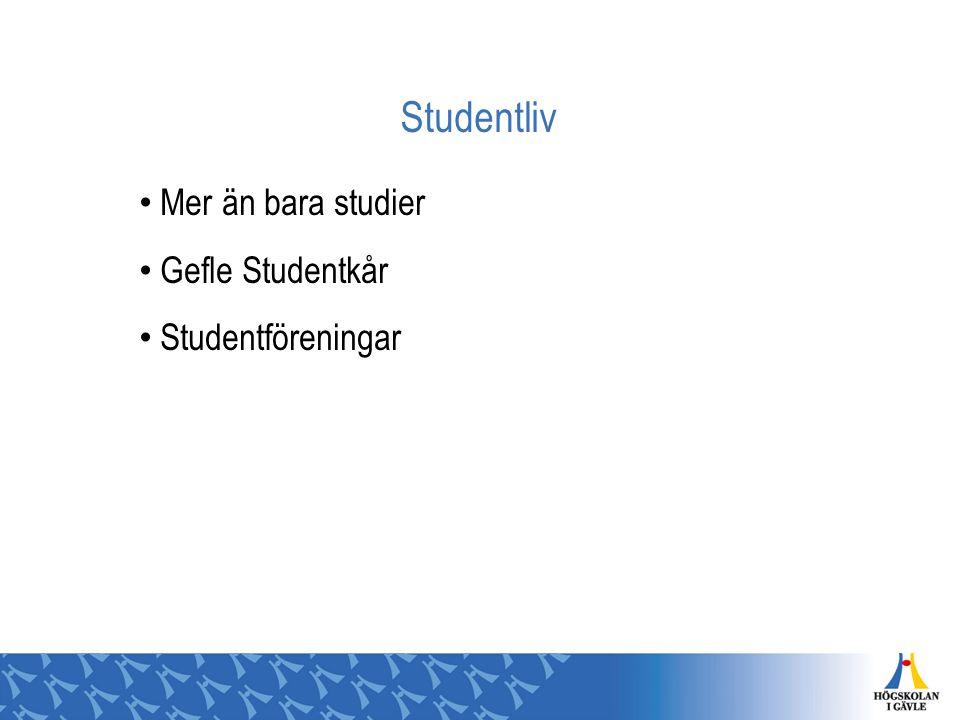 Studentliv Mer än bara studier Gefle Studentkår Studentföreningar