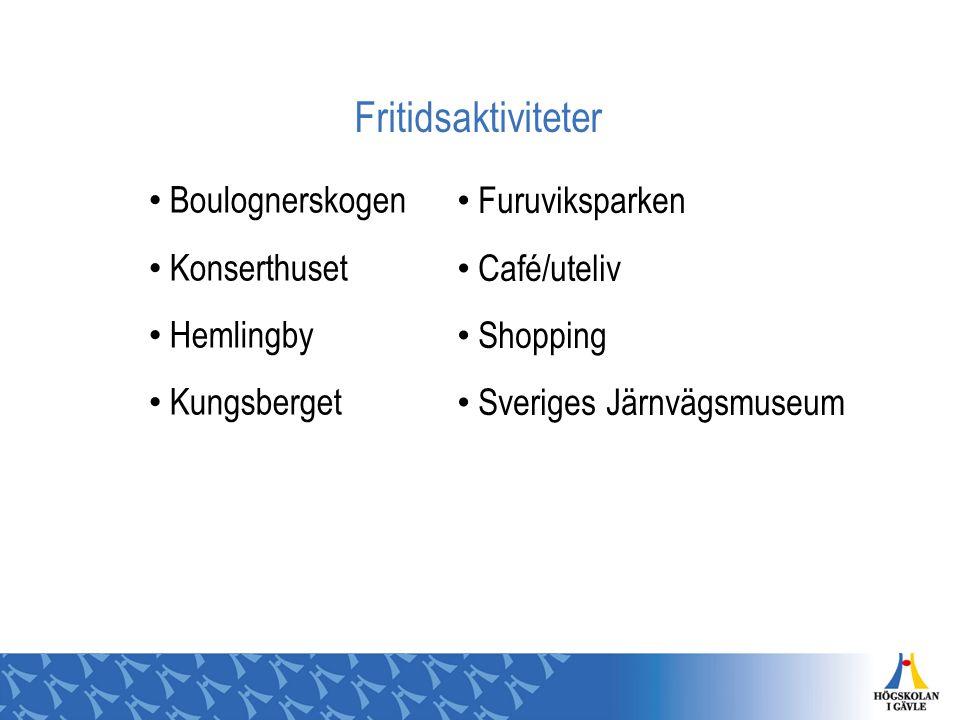 Fritidsaktiviteter Boulognerskogen Konserthuset Hemlingby Kungsberget