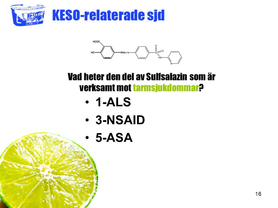 Vad heter den del av Sulfsalazin som är verksamt mot tarmsjukdommar