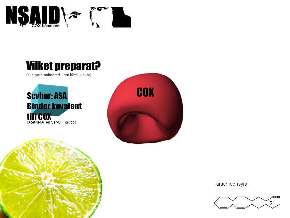 Binder kovalent till COX