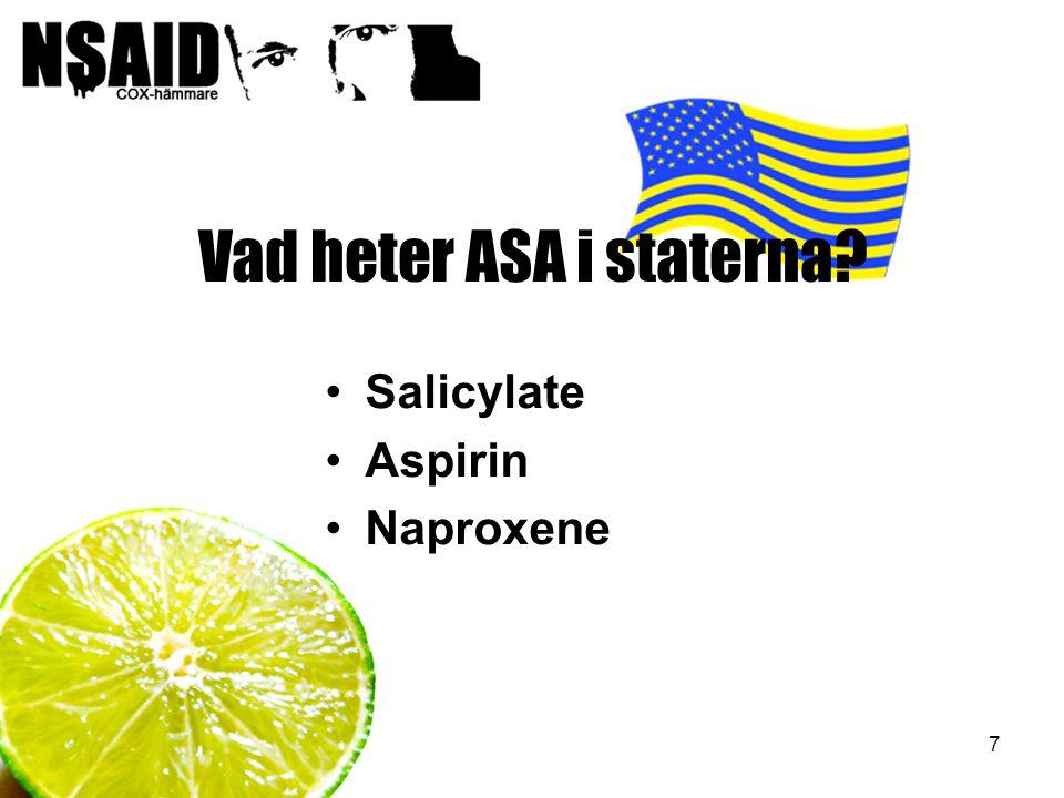 Vad heter ASA i staterna