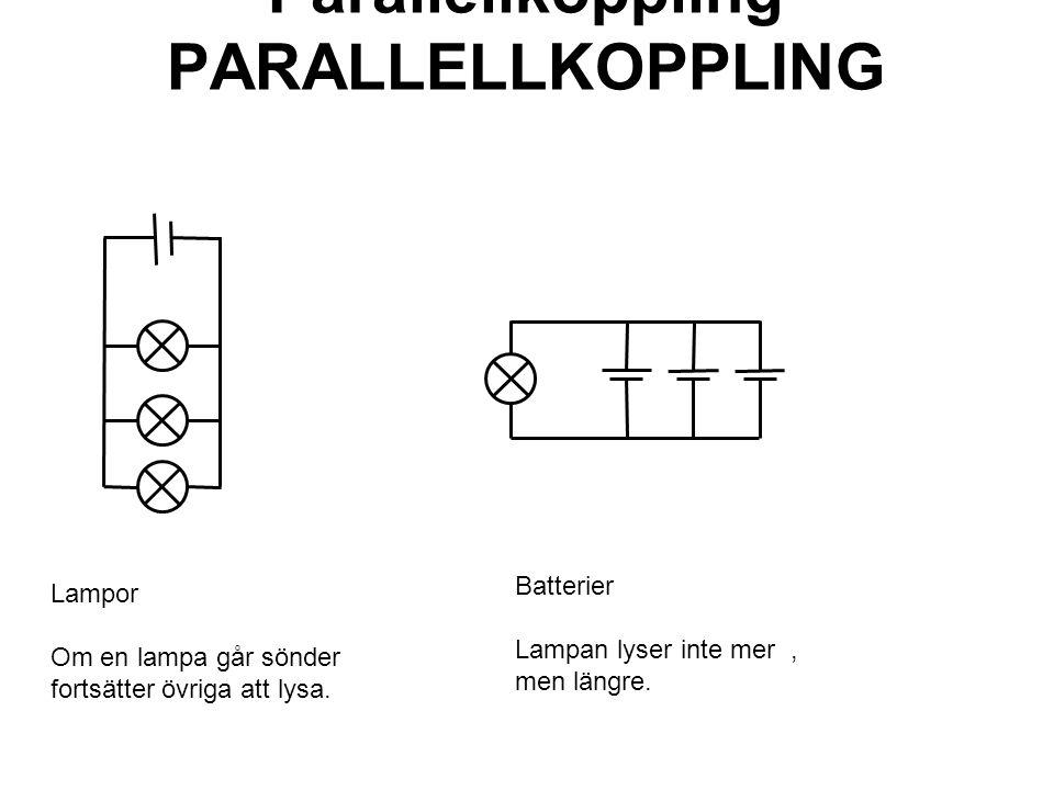Parallellkoppling PARALLELLKOPPLING