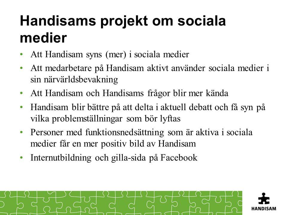 Handisams projekt om sociala medier