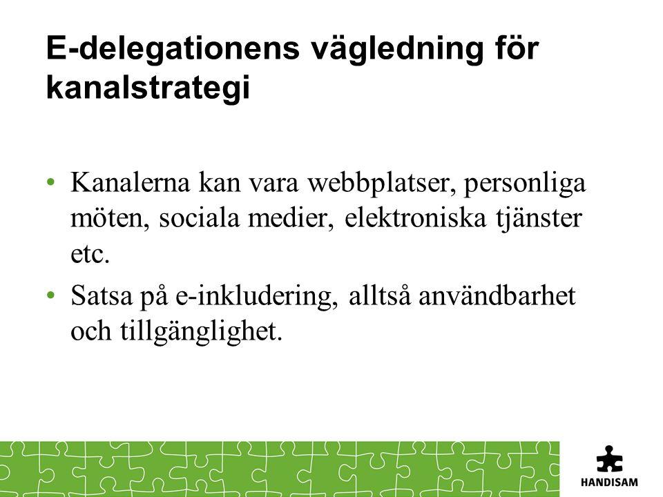 E-delegationens vägledning för kanalstrategi