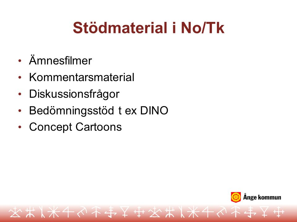 Stödmaterial i No/Tk Ämnesfilmer Kommentarsmaterial Diskussionsfrågor