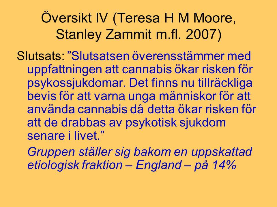 Översikt IV (Teresa H M Moore, Stanley Zammit m.fl. 2007)