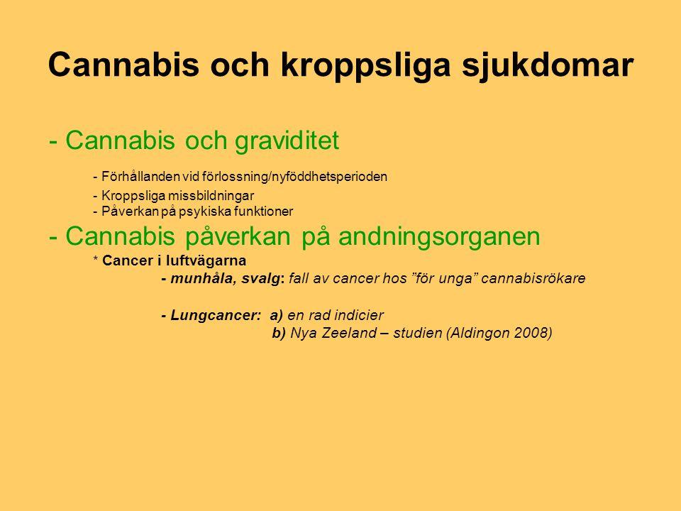 Cannabis och kroppsliga sjukdomar