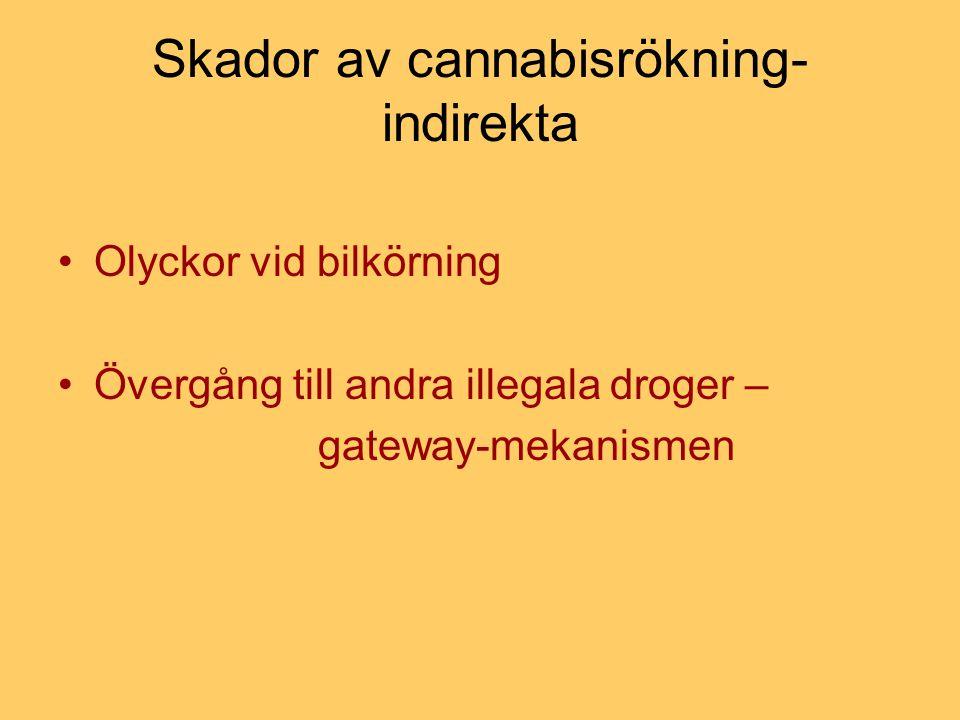 Skador av cannabisrökning-indirekta