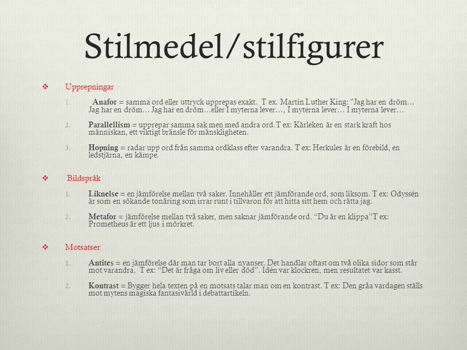 Stilmedel/stilfigurer
