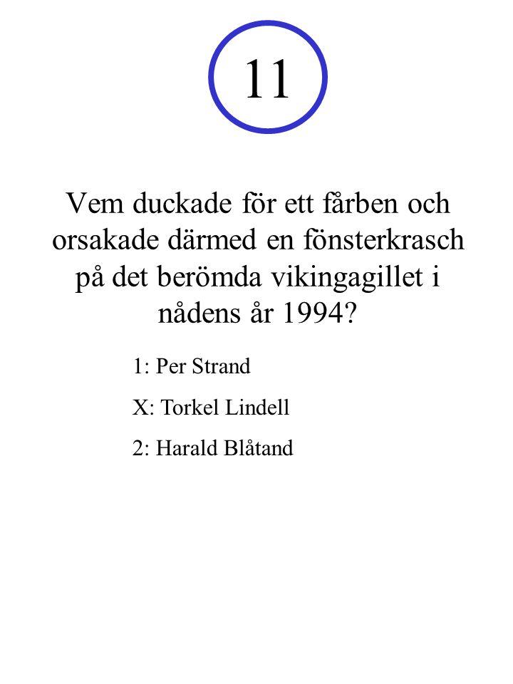 11 Vem duckade för ett fårben och orsakade därmed en fönsterkrasch på det berömda vikingagillet i nådens år 1994