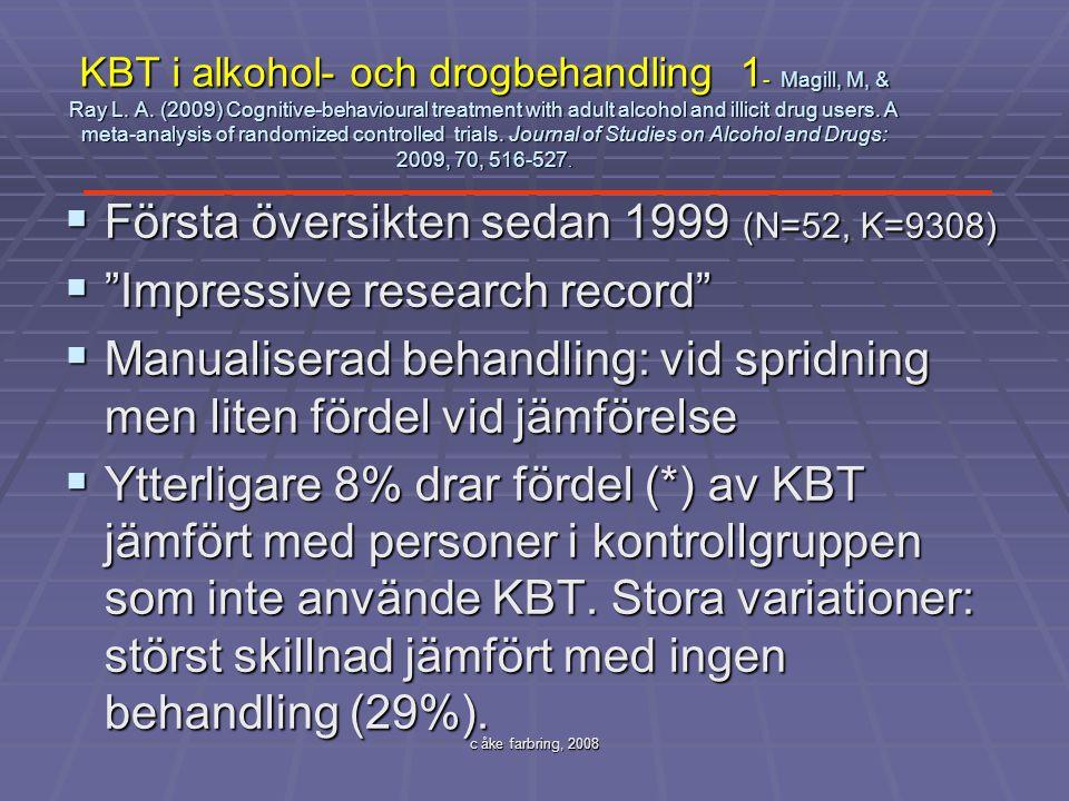 Första översikten sedan 1999 (N=52, K=9308)