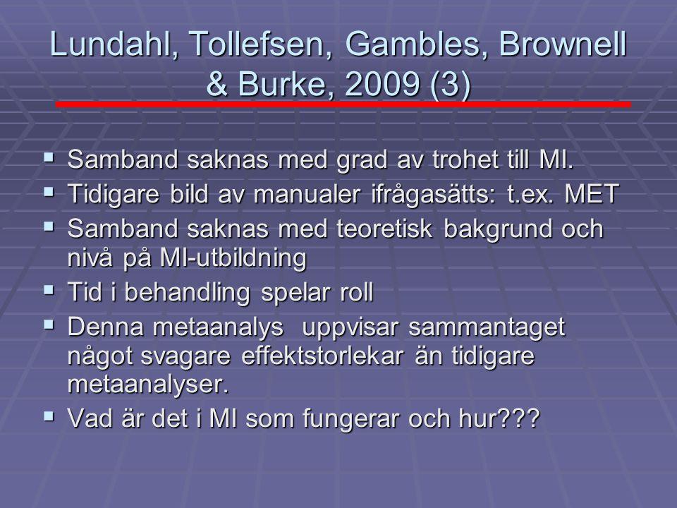 Lundahl, Tollefsen, Gambles, Brownell & Burke, 2009 (3)