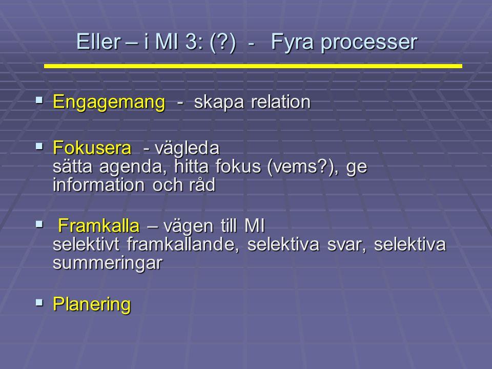 Eller – i MI 3: ( ) - Fyra processer