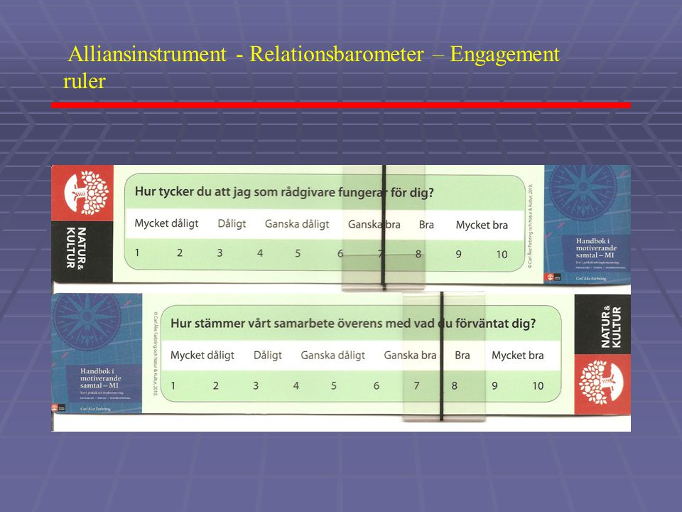 Alliansinstrument - Relationsbarometer – Engagement ruler