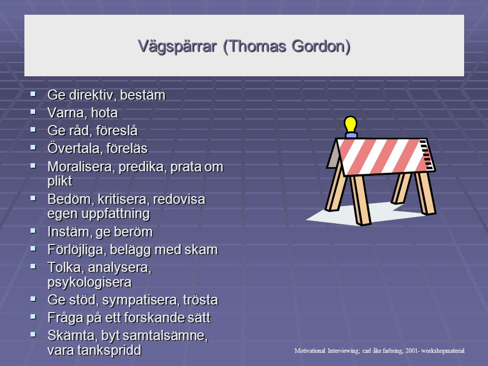 Vägspärrar (Thomas Gordon)